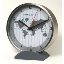 Convertible Global Wall Clock with Stand in Silver