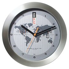 "11"" GMT Wall Clock with World Map"
