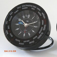 <strong>Bai Design</strong> Auto-Align World Trotter Travel Alarm Clock