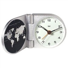 <strong>Bai Design</strong> World Trotter Modern Travel Alarm Clock in Gotham White