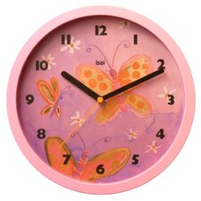 Children Wall Clock with Butterflies
