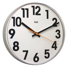 Lucite Wall Clock Big No in White