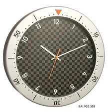 Speedmaster Wall Clock in Silver and Black