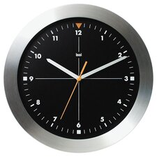 Brushed Aluminum Wall Clock Formula One in Black