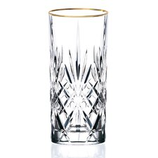 <strong>Lorren Home Trends</strong> Siena Crystal Water/Beverage/Ice tea Glass (Set of 4)