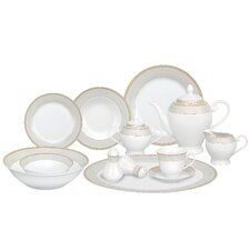 <strong>Lorren Home Trends</strong> Alina 57 Piece Porcelain Dinnerware Set