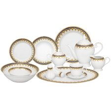 <strong>Lorren Home Trends</strong> Iris 57 Piece Porcelain Dinnerware Set