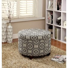 <strong>Kinfine</strong> Fashion Round Storage Medallion Suzani Ottoman
