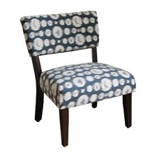 Large Ikat Gigi Fabric Slipper Chair