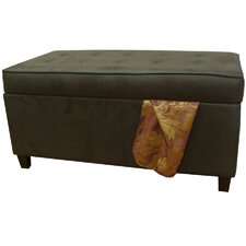Microsuede Storage Bench