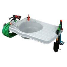 Outdoor Sink with Large Work Space and Detachable Hose Reel