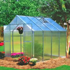 "Monticello 7' 6"" H  x 8.0' W x 24.0' D Premium Polycarbonate Hobby Greenhouse"