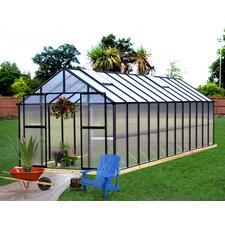 "Monticello 7' 6"" H x 8.0' W x 20.0' D Premium Polycarbonate Hobby Greenhouse"