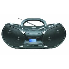 Naxa AC/DC Portable MP3/CD Player with AM/FM Stereo Radio
