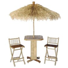 Bamboo 4 Piece Bar Height Dining Set