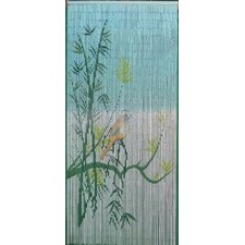 Bird On A Bamboo Tree Scene Curtain Single Panel
