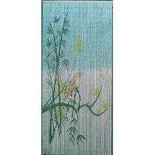 Bird On A Bamboo Tree Scene Curtain Single Panel