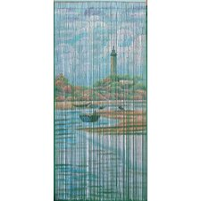 Lighthouse Beach Scene Curtain Single Panel