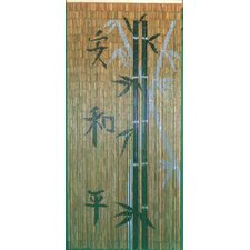 Chinese Characters with Bamboo Scene Curtain Single Panel