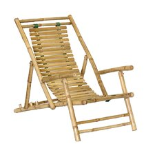 Bamboo Recliner Beach Chair (Set of 2)
