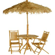 <strong>Bamboo54</strong> 4 Piece Bistro Set