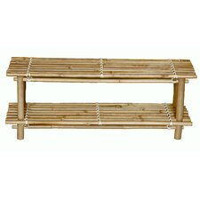 Natural Bamboo Shoe Rack (Set of 2)