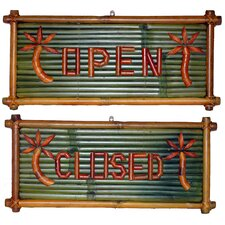 Open and Closed Garden Sign