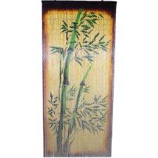 Natural Bamboo Scene Curtain Panel