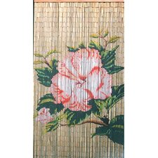 Natrual Bamboo Flower Curtain Single Panel