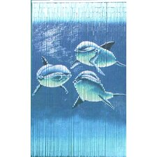 Natural Bamboo Tri Dolphin Curtain Single Panel