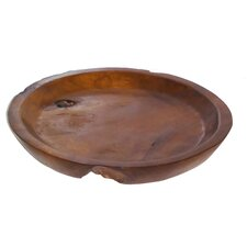Teak Round Decorative Bowl