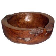 Teak Large Round Bowl