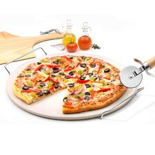 Taste of Italy 4 Piece Pizza Stone Set (Set of 4)
