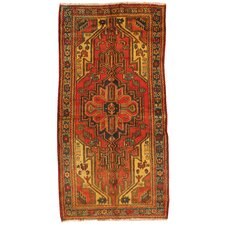 Kourd Rust Geometric Medallion Rug