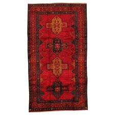 Kourd Red Tribal Medallion Rug