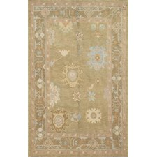 Oushak Light Blue All Over Pattern Rug