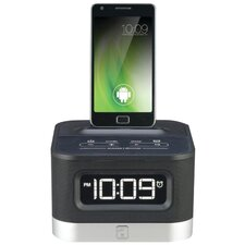 Universal Charging FM Stereo Alarm Clock Radio for Android Smartphones