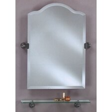 Scallop Frameless Top Mirror with Bracket