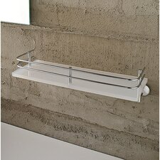 White Plexiglass Shelf with Rail