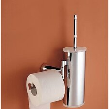 Wall Mounted Toilet Brush Holder with Optional Toilet Paper Roll Holder