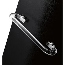 """Orchidea 18"""" Wall Mounted Clear Towel Bar"""