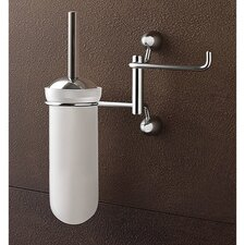 Wall-Mounted Toilet Brush Holder with Toilet Roll Holder