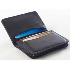 <strong>Clava Leather</strong> Glazed Leather Business Card Holder Wallet