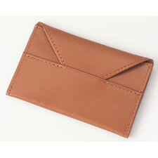 Bridle Leather Business Card Envelope in Tan