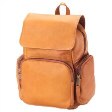 Vachetta Mid Size Multi-Pocket Backpack in Tan