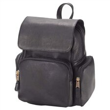 <strong>Clava Leather</strong> Vachetta Multi-Pocket Backpack