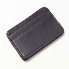 <strong>Clava Leather</strong> Quinley Two Pocket Cardcase Wallet  in Black