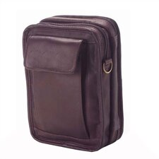 <strong>Clava Leather</strong> Colored Vachetta Travel Organizer Shoulder Bag