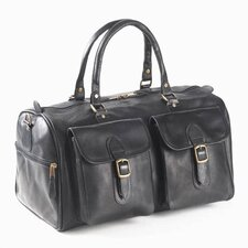 "<strong>Clava Leather</strong> Colored Vachetta Two Pocket 19"" Leather Duffel"