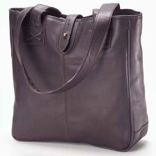 <strong>Clava Leather</strong> Colored Vachetta Small Open Tab Tote Bag